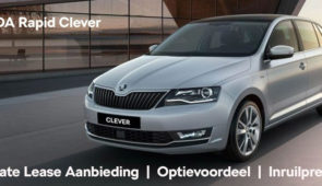 Private lease Skoda Rapid Clever vanaf € 299,-