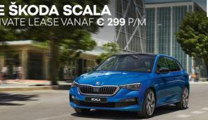 ŠKODA SCALA - Inruilpremie - Private lease vanaf 299 p/mnd